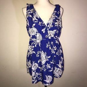 Motherhood Maternity royal blue floral top size L